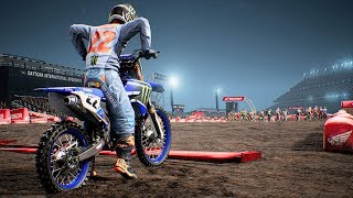 Monster Energy Supercross - Yamaha YZ 450 F - Test Ride Gameplay (PC HD) [1080p60FPS]