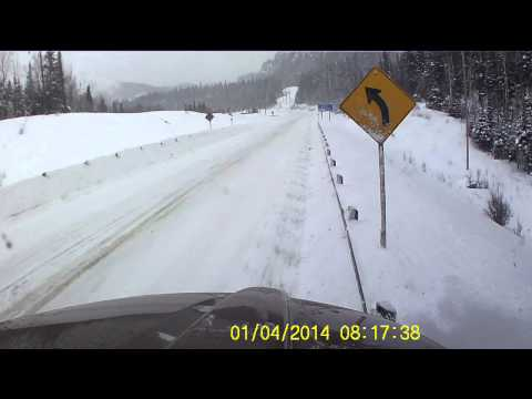 Dash cam captures scary semi hit-and-run in Canada