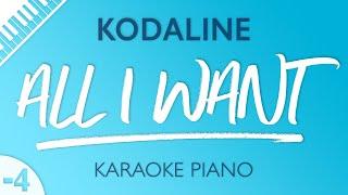 Video All I Want (LOWER Piano Karaoke) Kodaline MP3, 3GP, MP4, WEBM, AVI, FLV Maret 2018