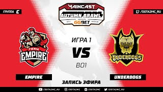 Team Empire vs Underdogs (карта 1), MC Autumn Brawl, Групповой этап