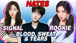 Video K-POP IDOLS WHO HATE THEIR SONGS (BTS, TWICE, RED VELVET, B.A.P & MORE) MP3, 3GP, MP4, WEBM, AVI, FLV Maret 2019