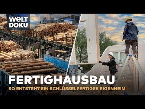 Fertighausbau - vom Holzstamm bis zum Fertighaus | Do ...