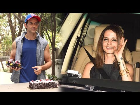 Video Ex Wife Sussanne Khan Arrives At Hrithik Roshan's 2018 Birthday Party download in MP3, 3GP, MP4, WEBM, AVI, FLV January 2017