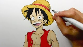 "Drawing Time Lapse: Luffy from ""One Piece"""