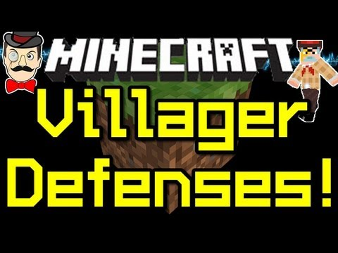 Minecraft News VILLAGER DEFENSES - Zombies Beware ! 12w08a !