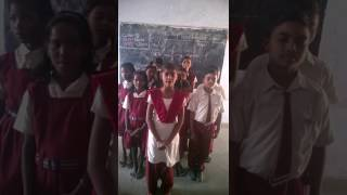 Science being expressed in English in a Government School