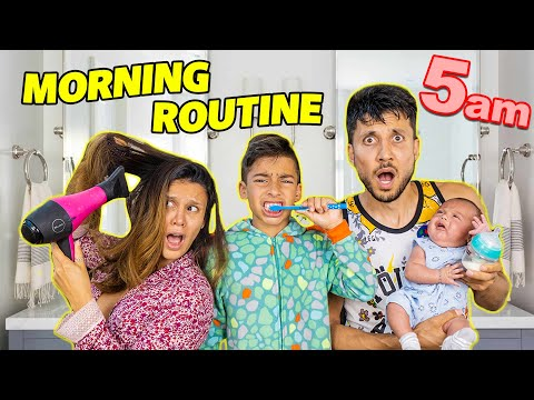 Our CRAZY MORNING ROUTINE at the ROYALTY PALACE!! | The Royalty Family