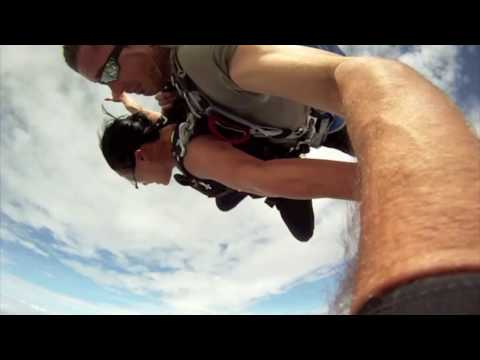 Plane Almost Hits Skydivers