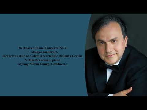 Yefim Bronfman Plays Beethoven Piano Concerto No. 4 - 1st Mov (Rome, 2001)