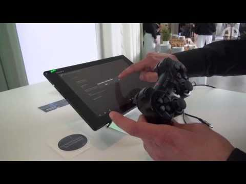 Sony Xperia Tablet Z & PS3 Controller Connection – English Hands-On – droidcon 2013 – androidnext.de