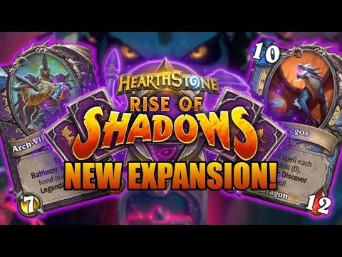 NEW EXPANSION! NEW CARDS! The Villains Are Back! | Rise of Shadows | Hearthstone