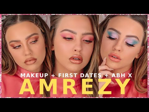 DATE READY W/ THE AMREZY X ABH PALETTE   3 LOOKS 1 PALETTE
