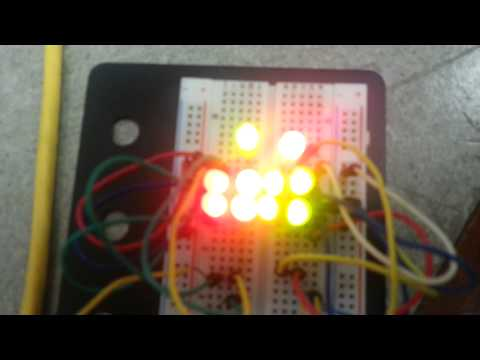 Student project, serial control LED patterns.