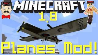 Minecraft Mods - PLANES Mod ! Fly Aircraft - Anti Air AA Guns, Spitfire&More!