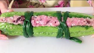 Canh Kho Qua Nhoi Thit-Vietnamese Food Recipes-Stuffed Bitter Melon Soup-How To Make Melon Soup