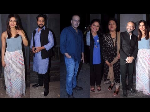 Priyanka Chopra | Jitendra Joshi & Others At Party Of Success Of Ventilator Movie