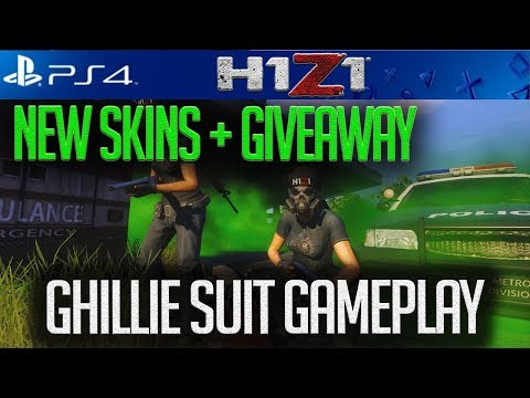 H1Z1 PS4: *NEW * SKINS +  GHILLIE SUIT GAMEPLAY! + PSN CARD GIVEAWAY