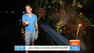 Grant Denyer and the Seven Sunrise team live from the Daintree Eco Lodge