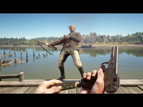 Red Dead Redemption 2 PC 60FPS - First Person Brutal Gameplay Vol. 40 (Euphoria Ragdolls)