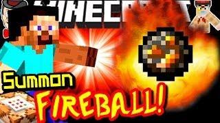 Minecraft Commands SUMMON A FIREBALL! No Mods!