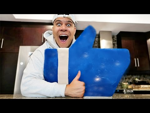 GIANT GUMMY YOUTUBE LIKE BUTTON!! (CAN THIS VIDEO HIT 500,000 LIKES?) (видео)