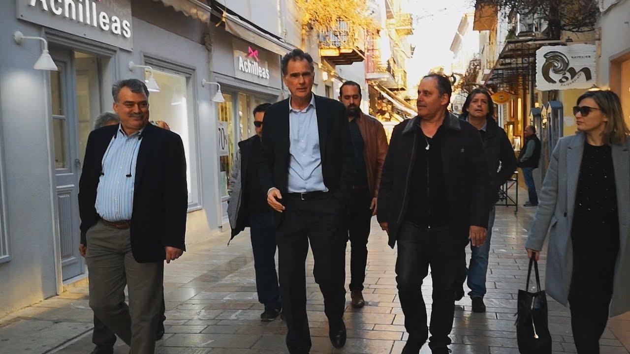 Το Ναύπλιο επισκέφθηκε ο υποψήφιος Ευρωβουλευτής με το Κίνημα Αλλαγής Νίκος Παπανδρέου