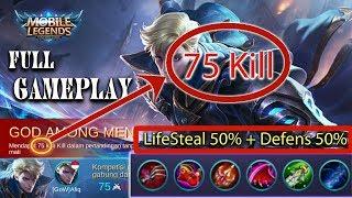 Download Video 70 KILL | 1vs5 Mobile Legends - Gameplay Alucard ML |Cost mode  -  MOBILE LEGENDS MP3 3GP MP4