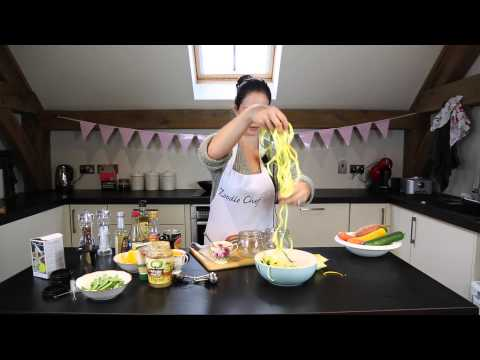 Asian Inspired Salad Recipe With Your Zoodle Chef Vegetable Spiralizer