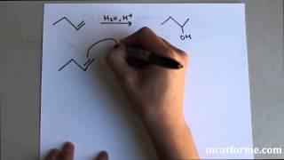 MCAT Ochem Lecture: Alkene Reaction - Markovinok Addition