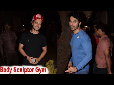Aayush Sharma & Varun Dhawan Spotted At Body Sculptor Gym