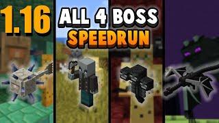 FAIL: Minecraft 1.16 Boss Run: How Fast Can I Kill All 4 Bosses?