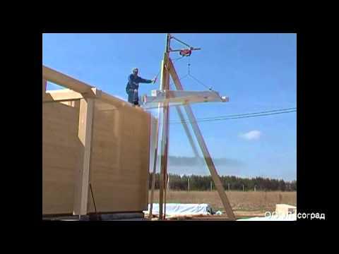 Лебедка для строительства дома