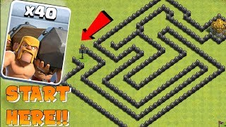 Video YOU WONT BEAT THIS!! | Clash of clans | BATTLE RAM MAZE!!! MP3, 3GP, MP4, WEBM, AVI, FLV Desember 2017
