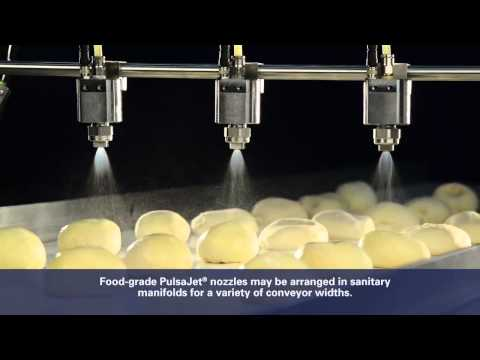 Applying Egg Wash with PulsaJet® Nozzles
