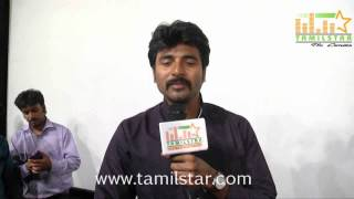 Sivakarthikeyan at Kaaki Sattai Movie Press Meet