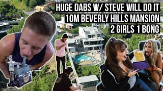 Huge Dabs w/ SteveWillDoIt in our 10$ Million Dollar Mansion! by HighRise TV