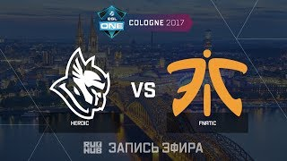 Heroic vs Fnatic - ESL One Cologne 2017 - de_mirage [CrystalMay, sleepsomewhile]