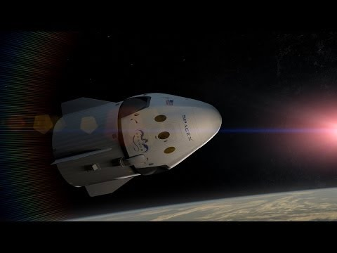 SpaceX Dragon V2 Flight Animation