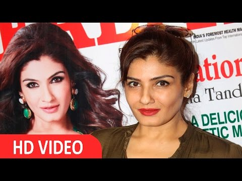 Unveiling Of Magzine The 'Health & Nutrition' By Raveena Tandon