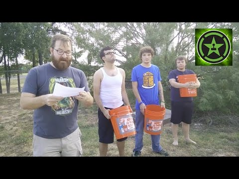How the ice bucket challenge should be done. Informing the viewers, amusing them and giving links to the charity in question