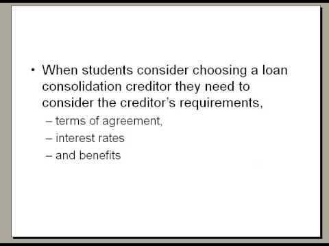 Compare student loan consolidation