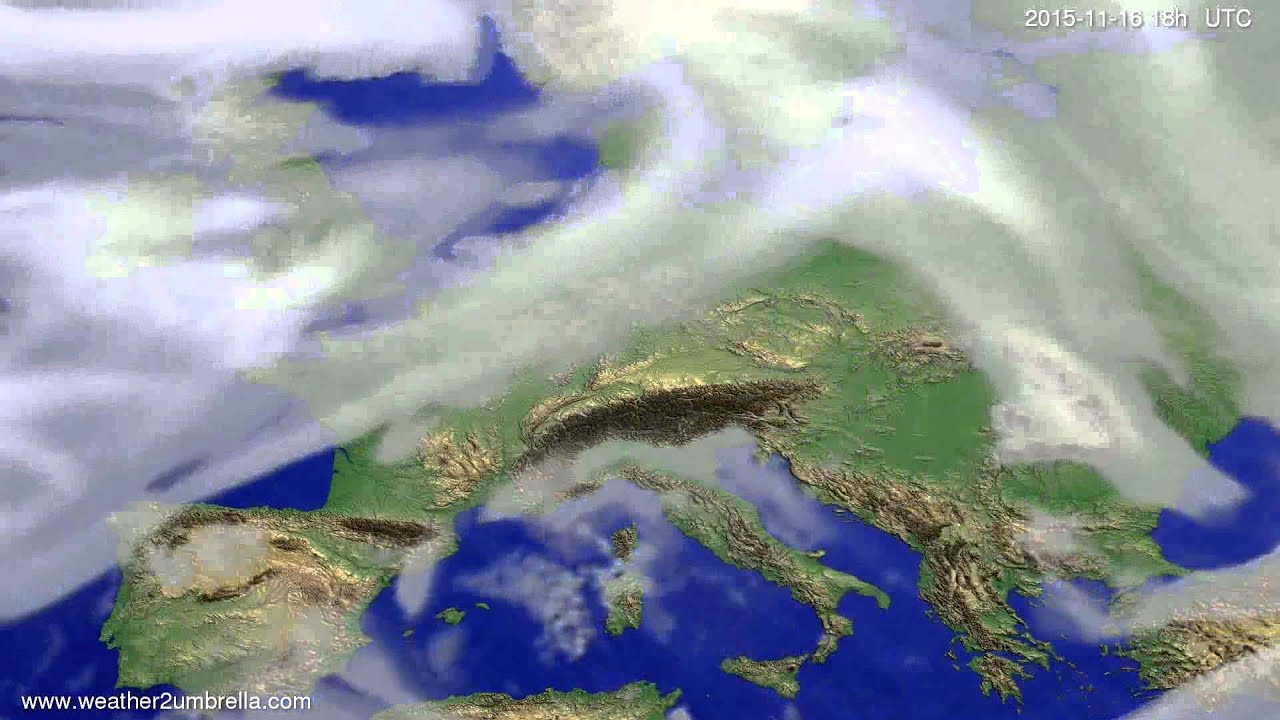 Cloud forecast Europe 2015-11-13