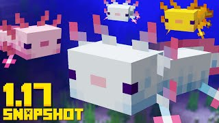 AXOLOTL MOBS are Here!! Minecraft 1.17 Snapshot 20w51a