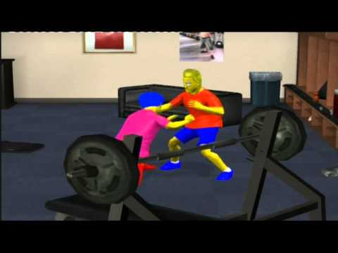 Bart vs Milhouse - Backstage Brawl SvR 2011