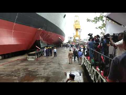 Glimpses During The Launch of Mormugao Warship