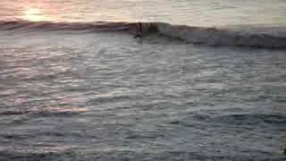 unknown surfer gets minute long ride during first light