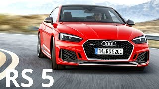 2018 Audi RS 5 Coupe (for USA) - Drive, Interior and Exterior. Color: Misano Red The 2.9 TFSI V6 biturbo engine, which Audi ...
