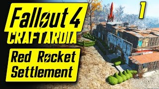 Fallout 4 Red Rocket Settlement #1 - Base Building Timelapse - Fallout 4 Settlement Building PC