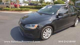 Autoline Preowned 2012 Volkswagen Jetta Sedan SE For Sale Used Walk Around Review Jacksonville