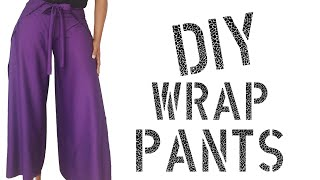 Video DIY How To Make Wrap Pants download in MP3, 3GP, MP4, WEBM, AVI, FLV January 2017